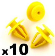 10x VW Transporter T4 Sharan kombi Plastic Yellow Door Trim Panel Retainer